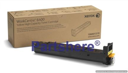 106R01319 - Yellow High Capacity Toner Cartridge. 16,500 Page Yield