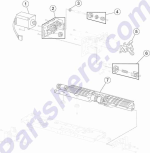 HP parts picture diagram for 40X0913