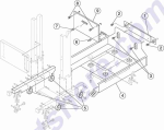 HP parts picture diagram for 40X1239