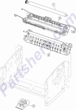 HP parts picture diagram for 40X1299