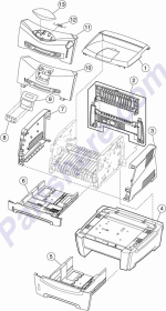 HP parts picture diagram for 40X1342