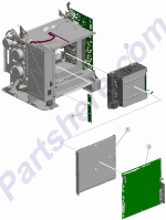 HP parts picture diagram for 40X1417