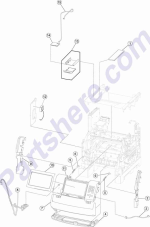 HP parts picture diagram for 40X2089