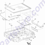 HP parts picture diagram for 40X2215