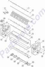 HP parts picture diagram for 40X3074