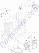 HP parts picture diagram for 40X4912
