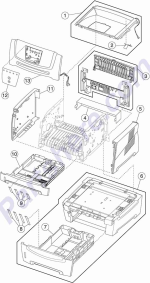 HP parts picture diagram for 40X5068