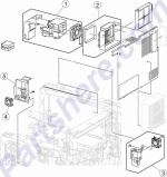 HP parts picture diagram for 40X6770