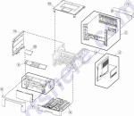 HP parts picture diagram for 40X8059