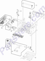 HP parts picture diagram for 40X8085