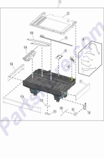 HP parts picture diagram for 40X8099