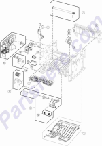 HP parts picture diagram for 40X8278