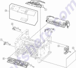 HP parts picture diagram for 40X8301