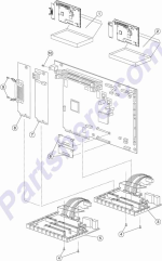 HP parts picture diagram for 99A0426