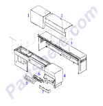 HP parts picture diagram for C1645-40043