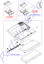 HP parts picture diagram for C2001-40007