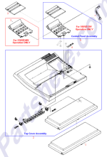 HP parts picture diagram for C2037-40014