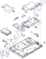 HP parts picture diagram for C2890-60015