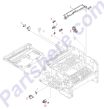 HP parts picture diagram for RB2-1998-000CN