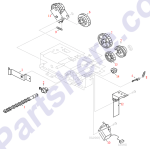 HP parts picture diagram for RB2-3478-000CN