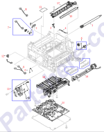HP parts picture diagram for RB2-4996-000CN