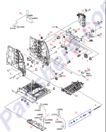 HP parts picture diagram for RC1-1224-000CN