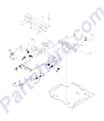 HP parts picture diagram for RF1-3814-000CN