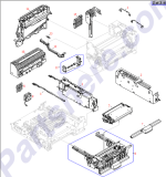 HP parts picture diagram for RG5-5169-000CN
