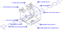 HP parts picture diagram for RG5-7646-030CN