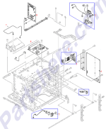 HP parts picture diagram for RG5-7993-000CN