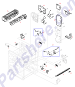 HP parts picture diagram for RH3-0234-000CN