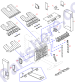 HP parts picture diagram for RH3-2205-000CN
