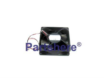 RH7-1491-020CN - Cartridge fan - Located at left rear corner - Exhausts heat from toner cartridges and fuser assembly - Fan 2