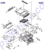 HP parts picture diagram for RL1-0434-000CN