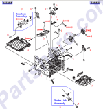 HP parts picture diagram for RM1-1464-000CN