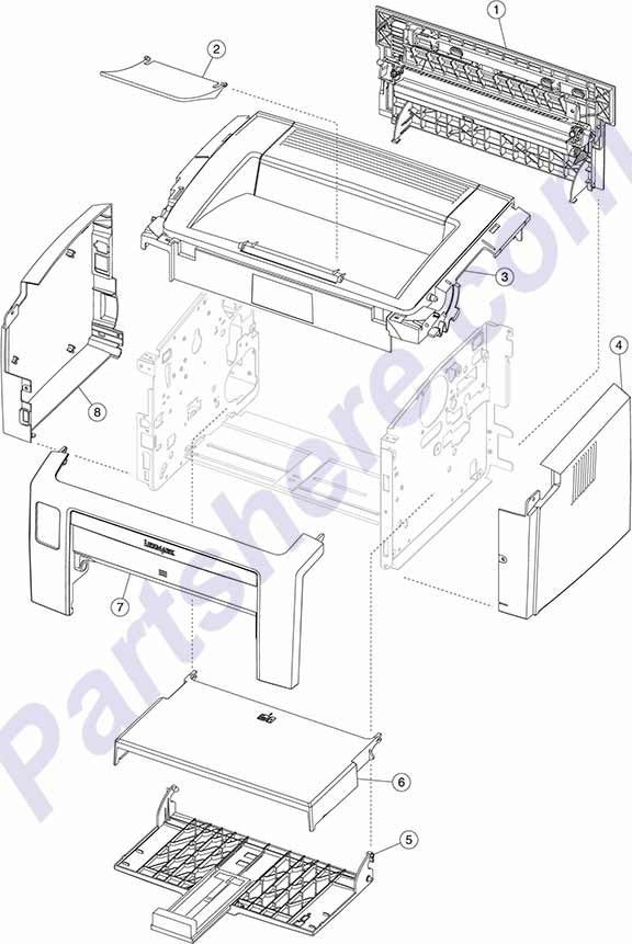 HP parts picture diagram for 40X1288, 40X1289, 40X1290, 40X1291, 40X1292, 40X1293, 40X1294, 40X1295