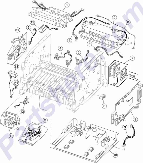 HP parts picture diagram for 40X2800, 40X2802, 40X2806, 40X2807, 40X2810, 40X2820, 40X2823, 40X2828, 40X2846, 40X2856