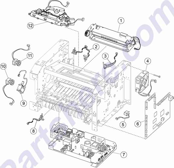 HP parts picture diagram for 40X5361, 40X5365, 40X5369, 40X5371, 40X5613, 40X5626, 40X9000