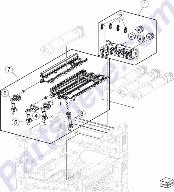 HP parts picture diagram for 40X6601, 40X6602, 40X6603, 40X6604, 40X6605, 40X6606, 40X6607
