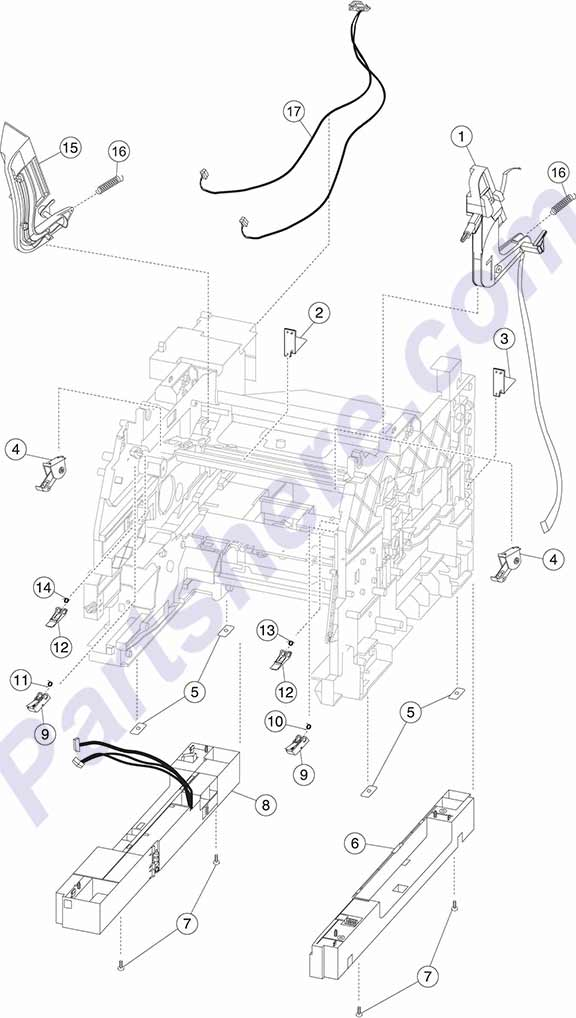HP parts picture diagram for 40X7727, 40X7728, 40X7575, 40X7589, 40X7590, 40X7714, 40X7716, 40X7717, 40X7718, 40X7719, 40X7720, 40X7721, 40X7724, 40X7732, 40X7733, 40X8315, 40X8316, 40X8407, 40X8408